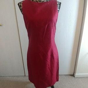 """Casual Corner"" Maroon Size 4 Dress"